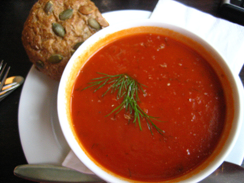 fresh cream of tomato soup recipe picture