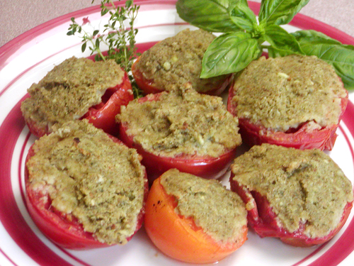 Baked Anchovy-Filled Tomatoes recipe – 147 calories