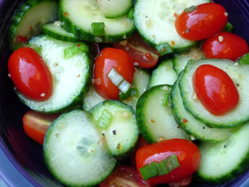 Fresh Tomato And Cucumber Salad recipe – 44 calories