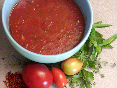 Fresh Tomato Sauce recipe – 71 calories