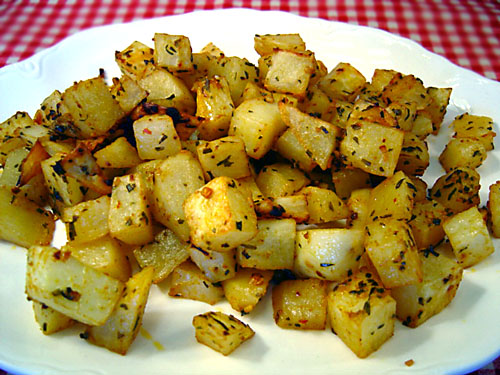 Spicy Roasted Potatoes recipe - 177 calories
