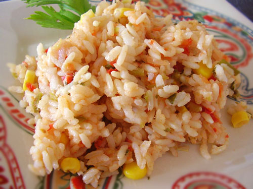 Salsa Rice recipe - 101 calories