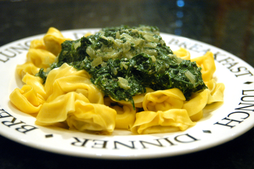 Spinach and Ricotta Cheese Pasta Sauce recipe – 125 calories