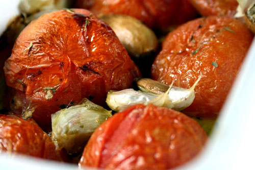 Garlic Tomatoes recipe – 79 calories