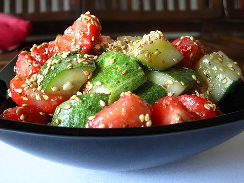 cucumber strawberry salad recipe picture