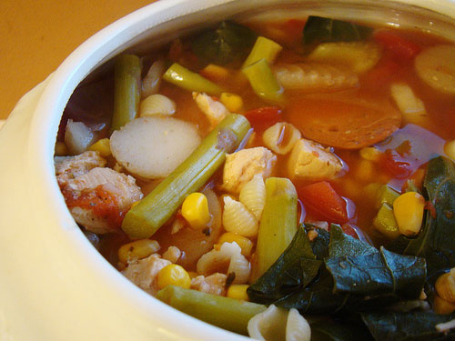 Minestrone Soup with Tofu recipe – 167 calories