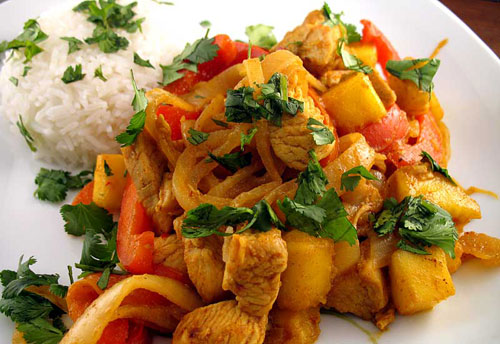 Mango and Red Pepper Chicken recipe – 141 calories