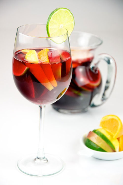 non alcoholic sangria fruit cups recipe picture