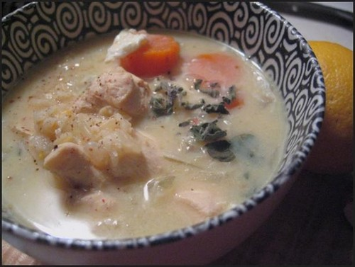 lemony chicken soup recipe picture