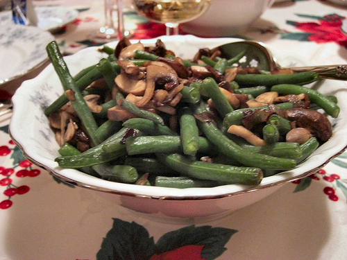 Low Calorie Mushrooms and Green Beans recipe – 176 calories