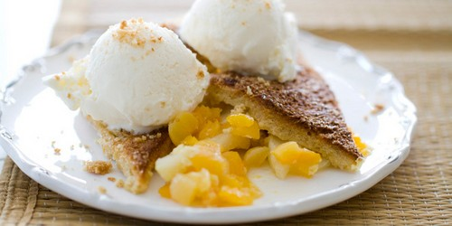 Baked Apples and Apricots with French Toast Crust recipe photo