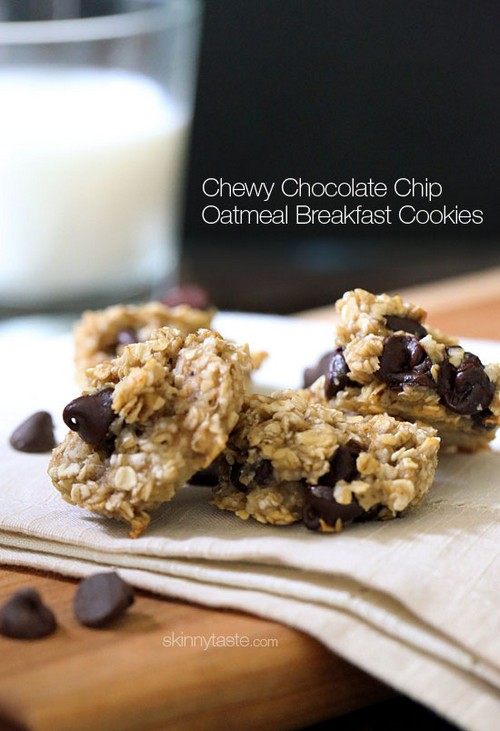 Chewy Chocolate Chip Oatmeal Breakfast Cookies recipe photo