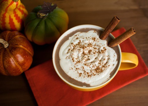 Easy (Healthy), 4-Ingredient Vegan Pumpkin Spice Latte recipe photo