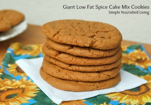 Giant Low Fat Spice Cake Mix Cookies recipe photo
