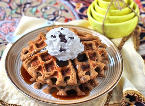 Healthy Quinoa Protein Waffles recipe photo
