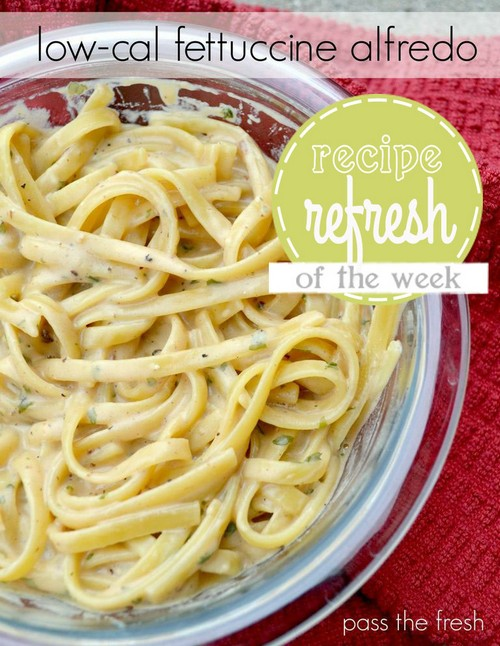 Low-Cal Fettuccine Alfredo recipe photo