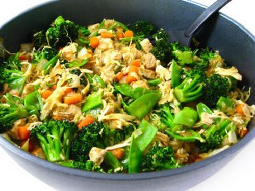 Low Calorie Chicken and Veggies Stir Fry recipe photo