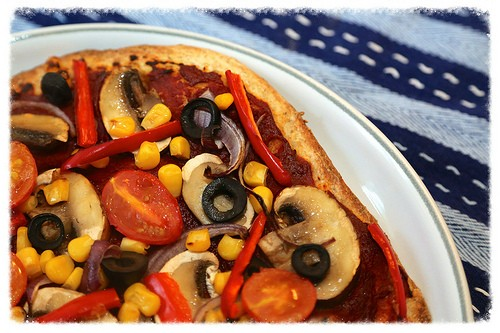Low Calorie Vegetable Pizza recipe photo