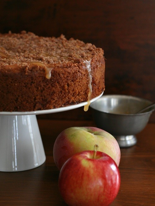Low Carb and Gluten-Free Caramel Apple Coffee Cake recipe photo