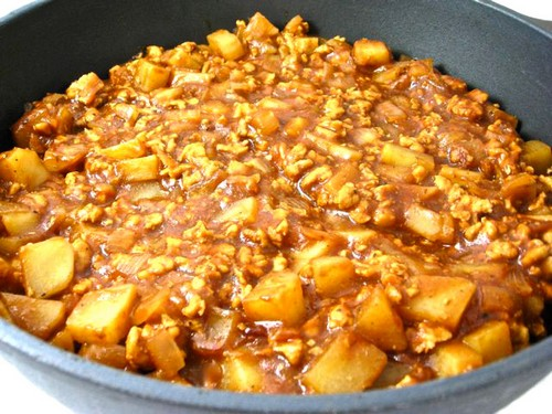 Low Fat Barbecue Turkey Chili, Potato Skillet recipe photo