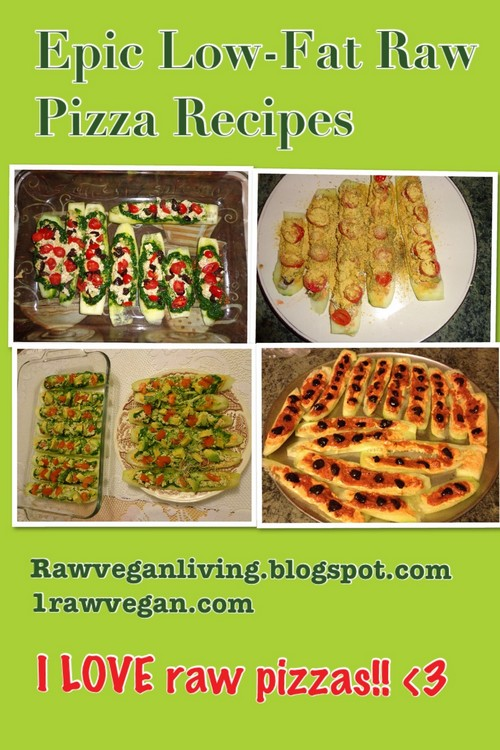 Low-Fat Raw Vegan Pizza recipe photo