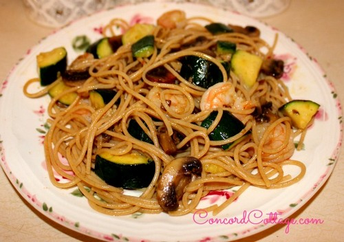 Tasty Pasta with Shrimp & Vegetables recipe photo
